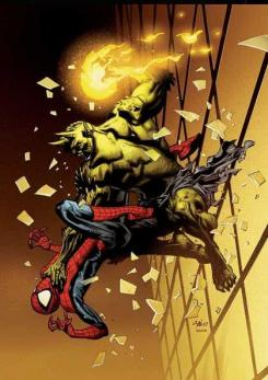 Ultimate Spider-Man Vs El Duende Verde, obra de Stuart Immonen