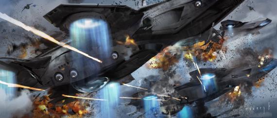 Concept art de Capitán América: El Soldado de Invierno (2014), por Rodney Fuentebella