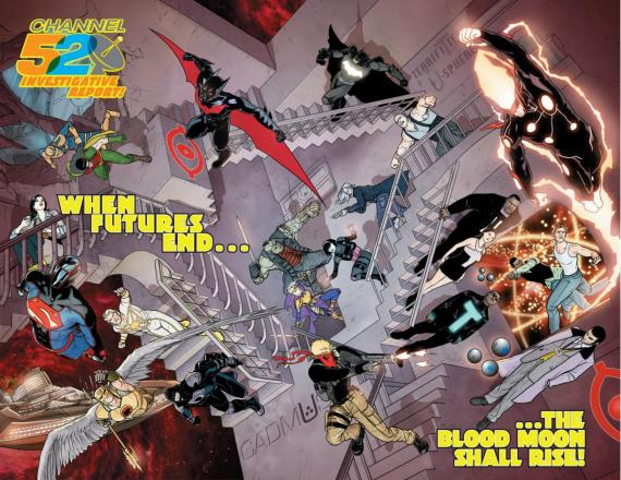 Avance de The New 52: Futures End que reza: When Futures End... the Blood Moon Shall Rise!