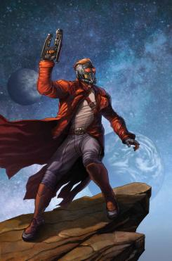 Imagen portada del cómic The Legendary Star-Lord, arte por Steve McNiven