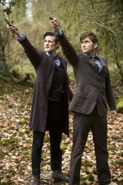 "Matt Smith y David Tennant en ""El Día del Doctor"""