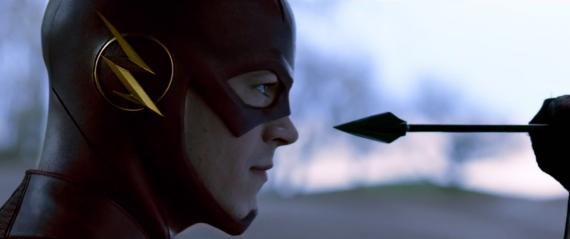 Captura del avance de The Flash visto en el final de la segunda temporada de Arrow