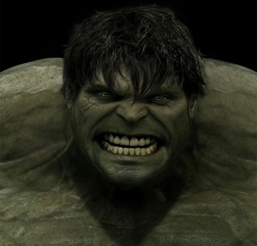 Concept art de The Incredible Hulk / El Increíble Hulk (2008)