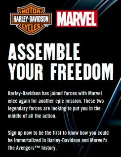 Harley Davidson se une a Marvel para The Avengers
