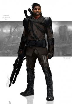 Concept art de X-Men: Días del Futuro Pasado (2014), por Phillip Boutte Jr.. Diseño alternativo de Bishop