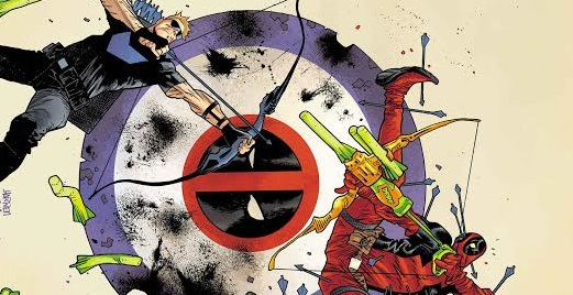 "Banner de ""Hawkeye vs Deadpool"""