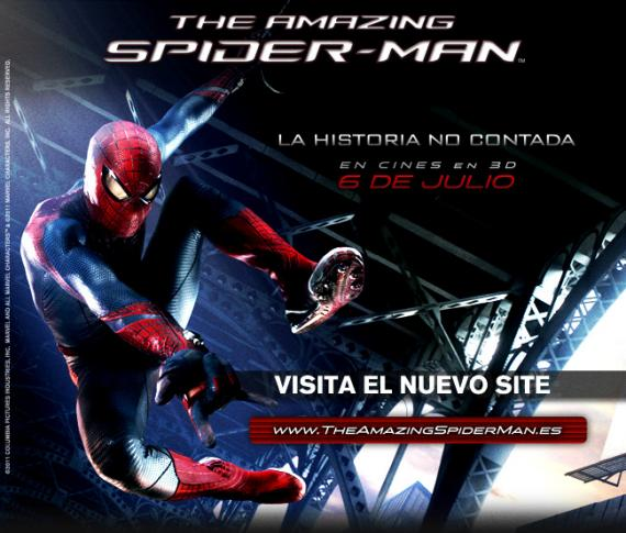 Web oficial para España de The Amazing Spider-Man