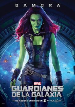 Póster individual para España de Guardianes de la Galaxia (2014), Gamora