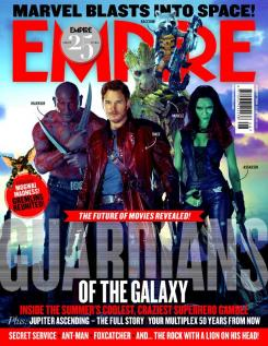 Portada de la revista Empire de Guardianes de la Galaxia
