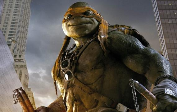 Imagen promocional de Michelangelo en Teenage Mutant Ninja Turtles (2014)