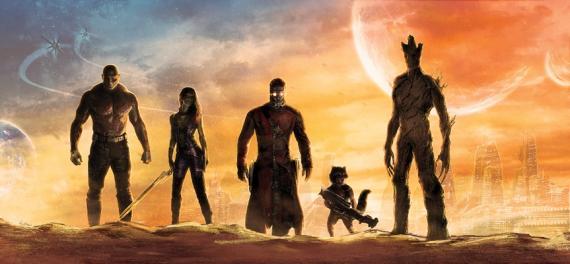 Promo art de Guardianes de la Galaxia (2014)