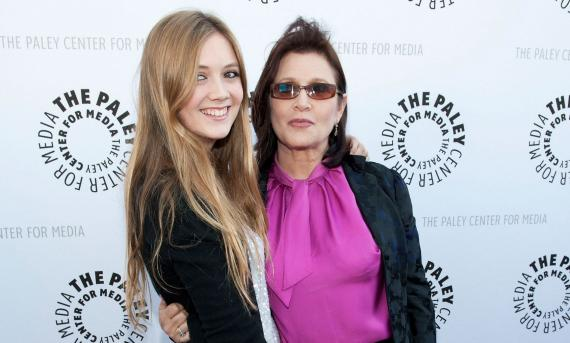 Billie Lourd y Carrie Fisher