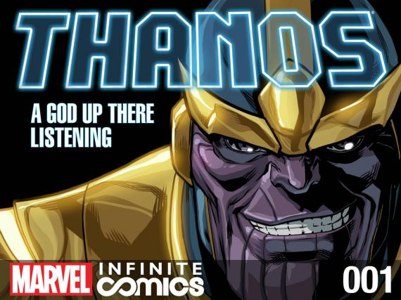 Banner de Thanos: A God Up There Listening
