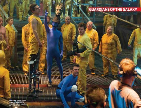 Imagen del set de rodaje de Guardianes de la Galaxia (2014)