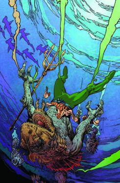 Portada alternativa de Aquaman #35 por Mark Nelson