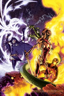Portada alternativa Monster de New Teen Titans #3 por Gene Ha