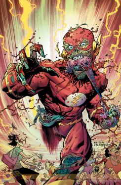 Portada alternativa Monster de The Flash #35 por Fco. Plascencia