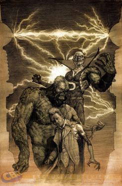 Portada alternativa Monster de Justice League Dark #35 por Erik Gist