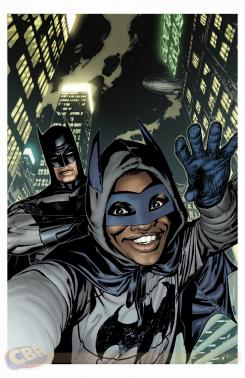 Portada alternativa selfie de Batman #34 por Ryan Sook