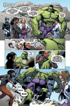 Interior del cómic Indestructible Hulk 20, arte por Joe Bennett