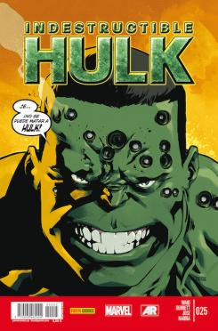 Portada del cómic español Indestructible Hulk 25