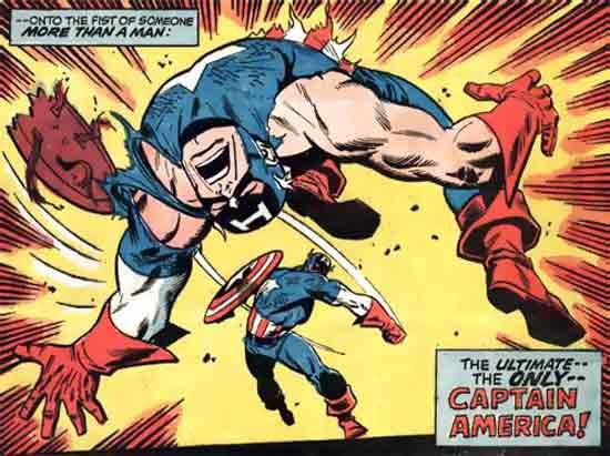 Capitán América contra el Capitán América psicótico de los años 50