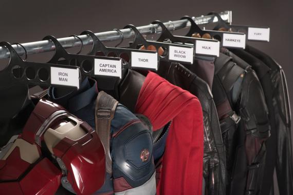 Imagen oficial del set de rodaje de Los Vengadores: Era de Ultrón (2015)