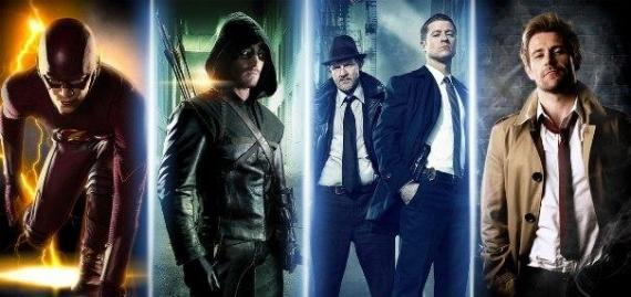 Banner con The Flash, Arrow, Gotham y Constantine