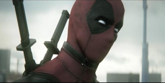 Captura del test footage de Deadpool