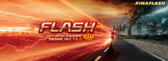 Banner promocional de The Flash #InAFlash