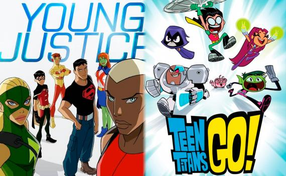 Cruce entre Young Justice y Teen Titans Go!