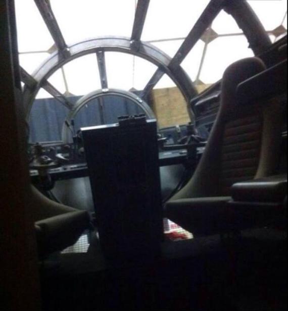 Supuesta imagen del Halcón Milenario por dentro en Star Wars: Episodio VII (2015)