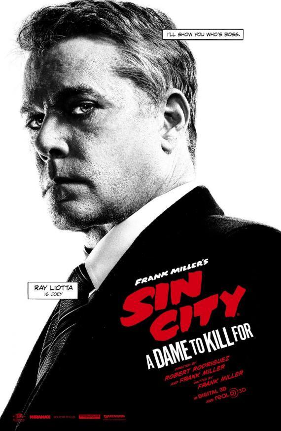 Póster individual de Sin City: A Dame to Kill For (2014), Ray Liotta es Joey