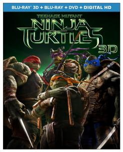 Carátula de la edición Blu-ray de Teenage Mutant Ninja Turtles (2014)