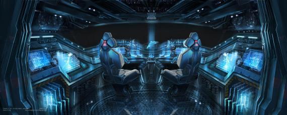 Concept art del X-Jet en X-Men: Días del Futuro Pasado (2014), por Henry Fong