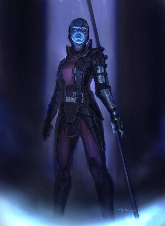 Concept art de Nébula para Guardianes de la Galaxia (2014), de Andy Park
