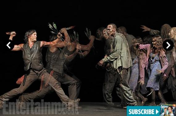 Imagen de la quinta temporada de The Walking Dead de la revista Entertainment Weekly