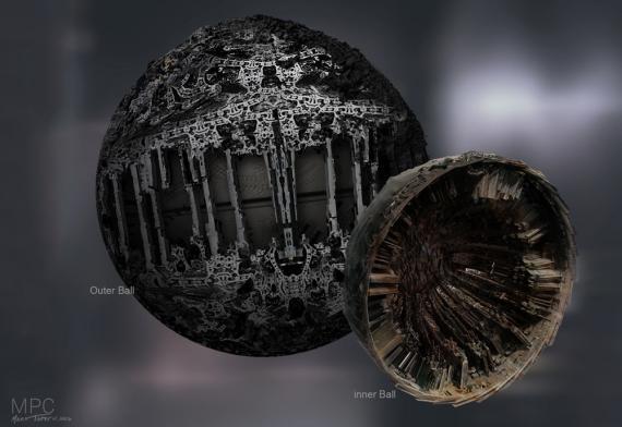 Concept art del artefacto de la orbe de Guardianes de la Galaxia (2014)