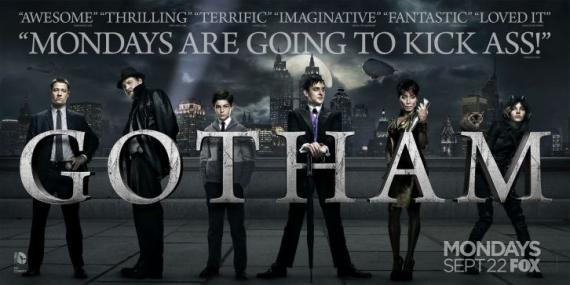 Banner de Gotham para promocionar su emisión los lunes en Fox