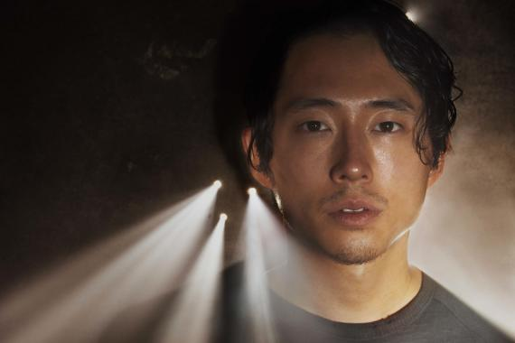 Glenn en la quinta temporada de The Walking Dead