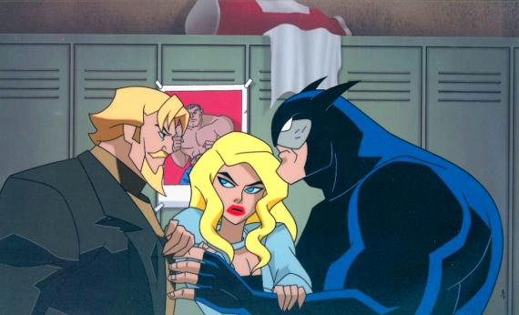 Oliver Queen, Dinah Lance y Ted Grant en Justice League Unlimited