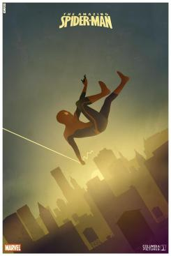 Fan-made póster minimalista de The Amazing Spider-Man, obra de Arco2002