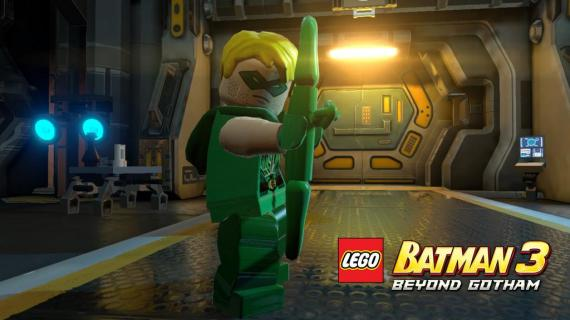 Stephen Amell como Green Arrow en LEGO Batman 3: Más allá de Gotham (2014)