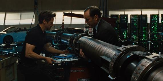 Tony Stark y el Agente Coulson en Iron Man 2