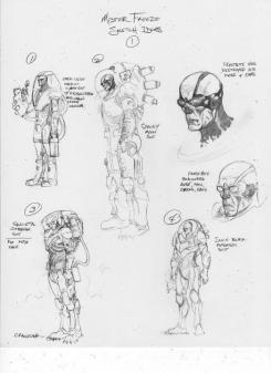 Concept art de Mr. Freeze del videojuego Batman: Arkham City, obra de Brandon Badeaux