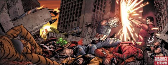 Civil War 7 -  Banner de Steve McNiven