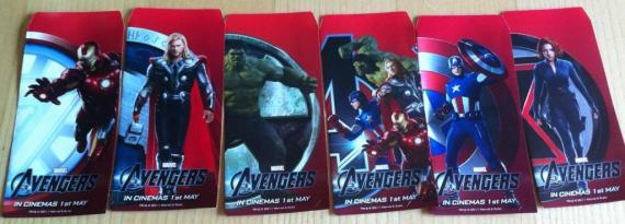 Sobre Rojo chino con la promoción de The Avengers / Los Vengadores (2012)