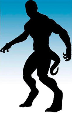 Silueta de la figura del Lagarto de The Amazing Spider-Man (2012), de Diamond Select Toys