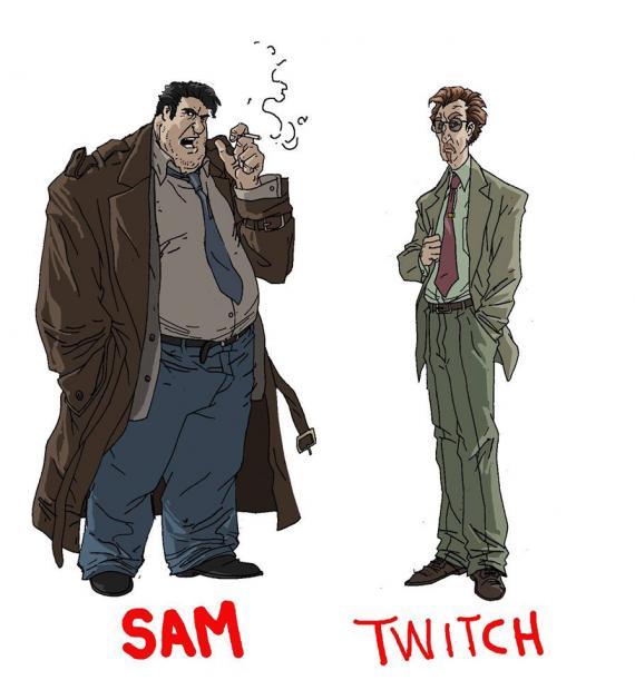 Diseño de los personajes principales de la serie de animación de Spawn