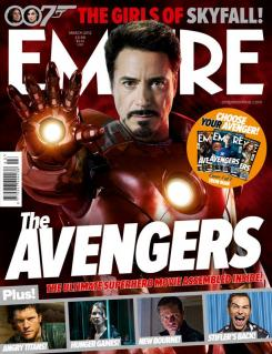 Portada alternativa de Empire de Marzo de 2012, dedicada al Iron Man en The Avengers